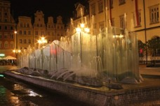 Rynek Fountain at Night: Wrocław Poland