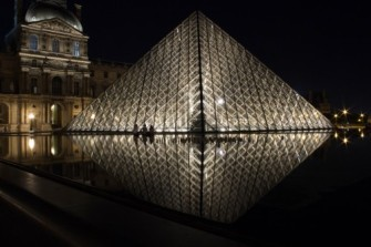 Reflections: Louvre Pyramid, Paris France