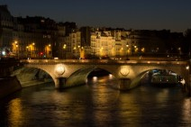 Night on the Seine, Paris France
