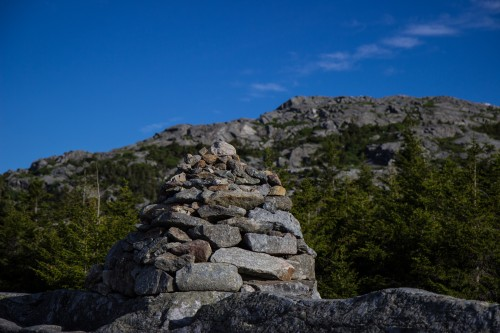 Mt. Monadnock - Cairn with Summit in the Background
