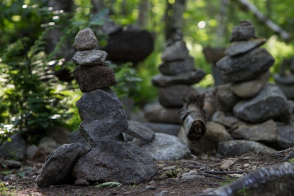 Mt. Monadnock - Small Cairn in the Woods