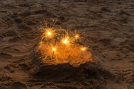 Sparklers in the Sand