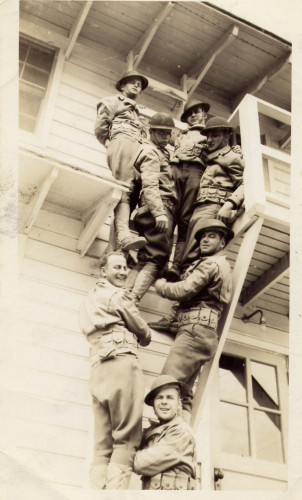 Soldiers on Steps