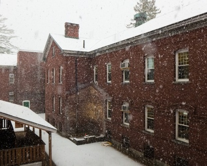 Snow from the Office Window