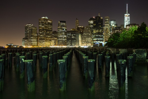 Skyline and Pilings