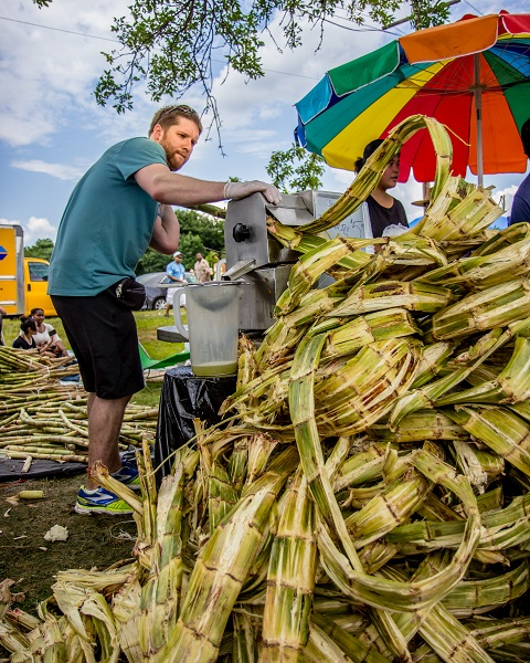 Making Sugar Cane Juice