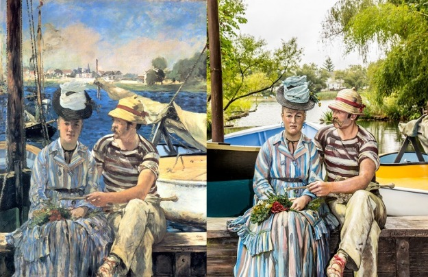 Manet - Argenteuil and Sewell Johnson - Sailing the Seine