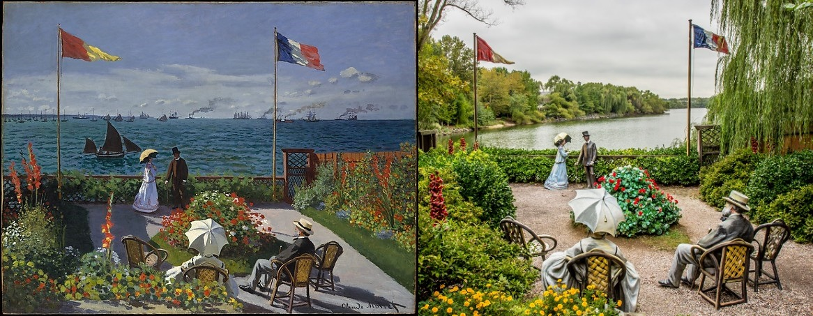 Monet Garden At Sainte Adresse Garden Ftempo