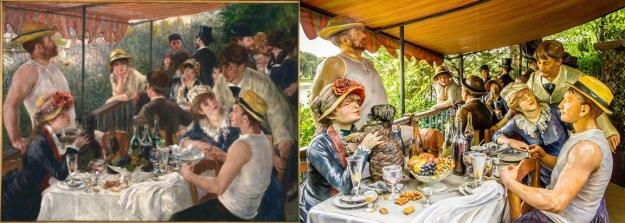 Renoir - Luncheon of the Boating Party and Sewell Johnson - Were You Invited