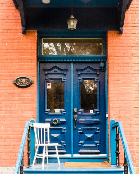 Blue Door and Chair
