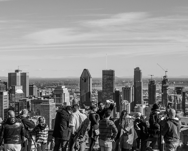 Monochrome Monday - Atop Mount Royal
