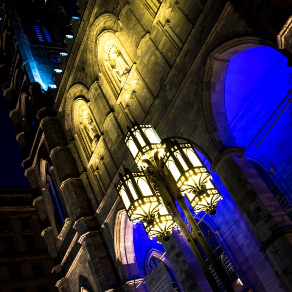 Notre Dame Lamps by Night