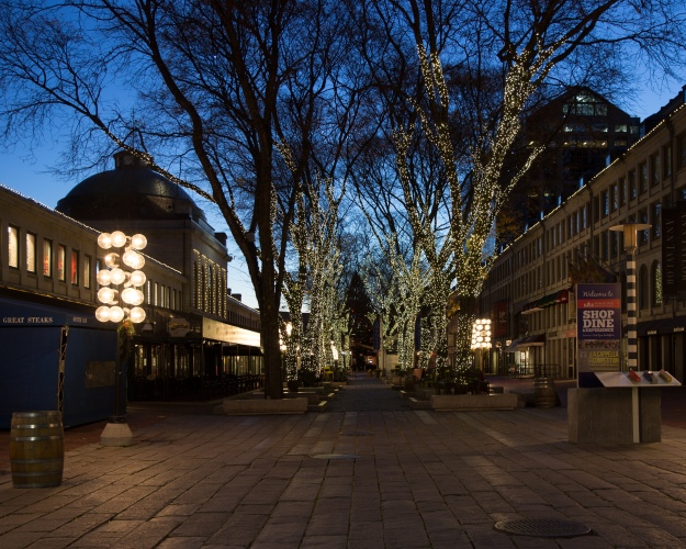Faneuil Hall Marketplace at Dawn