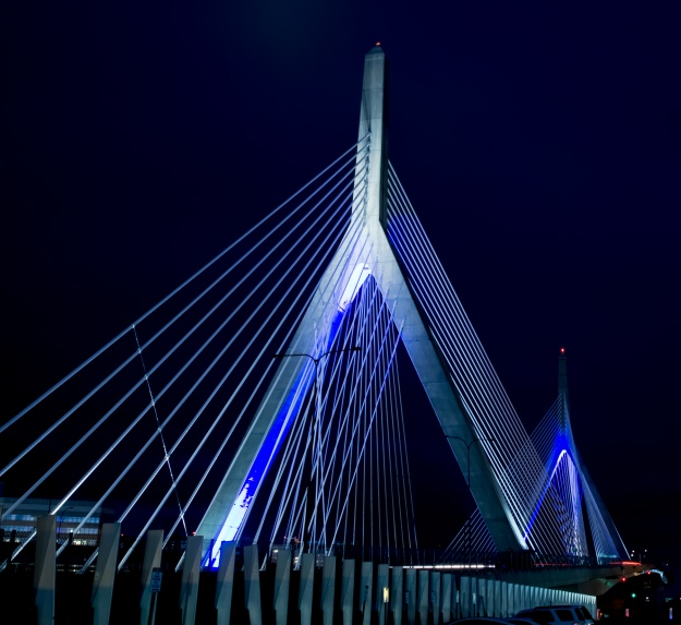 Zakim Bridge from Beverly Street