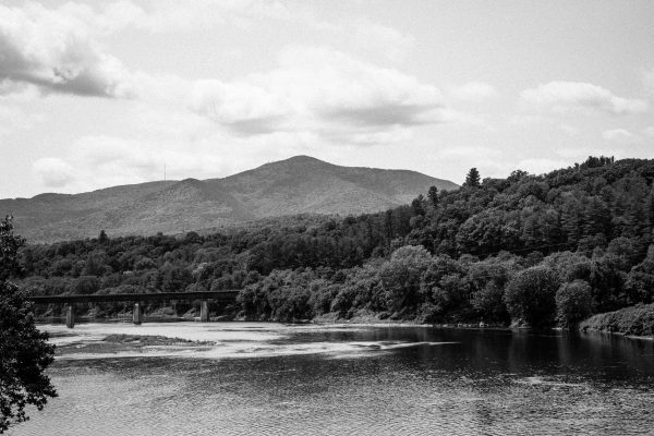 Connecticut River and Mt. Ascutney - BW
