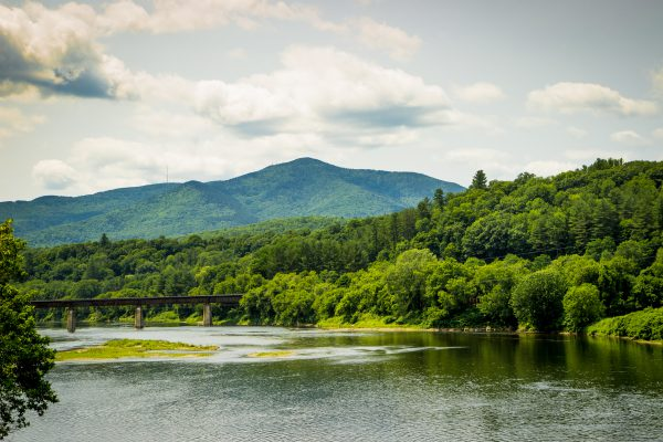 Connecticut River and Mt. Ascutney - Color