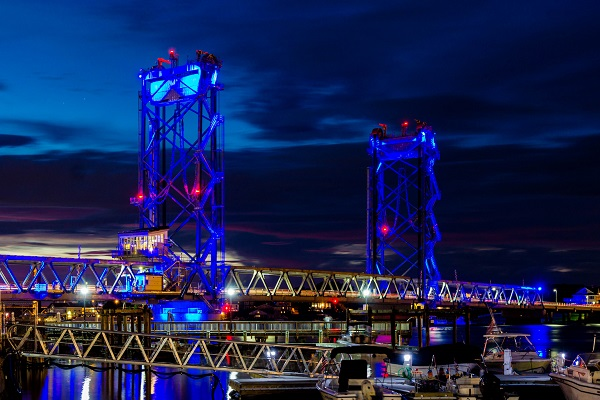 Memorial Bridge in Blue