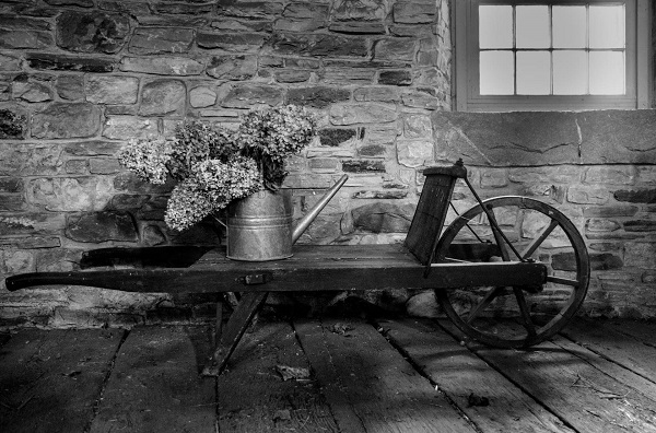 wheelbarrow-bw